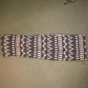 Grey and White Sparkle Scarf